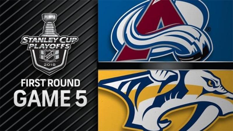 НХЛ - плей-офф. 1/4 финала - Запад. 5-й матч. Нэшвилл Предаторз - Колорадо Эвеланш - 1:2 (0:0, 0:0, 1:2)