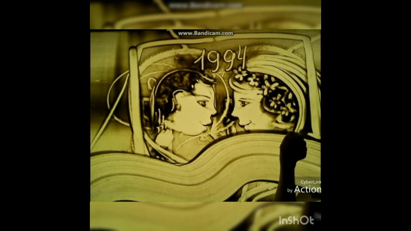 История любви песком♥ Красиво загадочно необычно Такой оригинальный подарок оценит любой романтик Потрясающие песочные рисун
