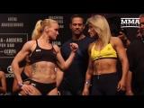 UFC Belem- Valentina Shevchenko vs. Priscila Cachoeira Weigh-In Staredown