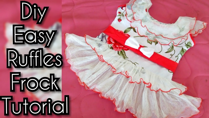 DIY Ruffled Baby Frock Cutting And Stitching Full Tutorial