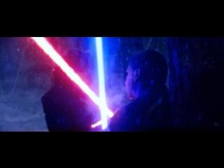 Финн,Рей против Кайло Рена.Бой на световых мечах.Победа над Кайло Реном.