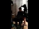 секси парикмахер стрижет раба связанного шибари
