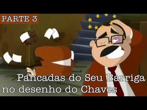 Todas as pancadas que deram no Seu Barriga no desenho animado do Chaves 3