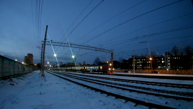 ЭД4М(РЭКС)(Экспресс-спутник) на участке Фабричная-Раменское.