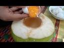 Деревнская Пища, Камбоджийский Традиционная Кухня Стиль, Кхмерская Кулинария Яйцо в Кокосе