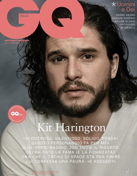 Кит Харингтон в мартовском выпуске журнала GQ Italia / 2018