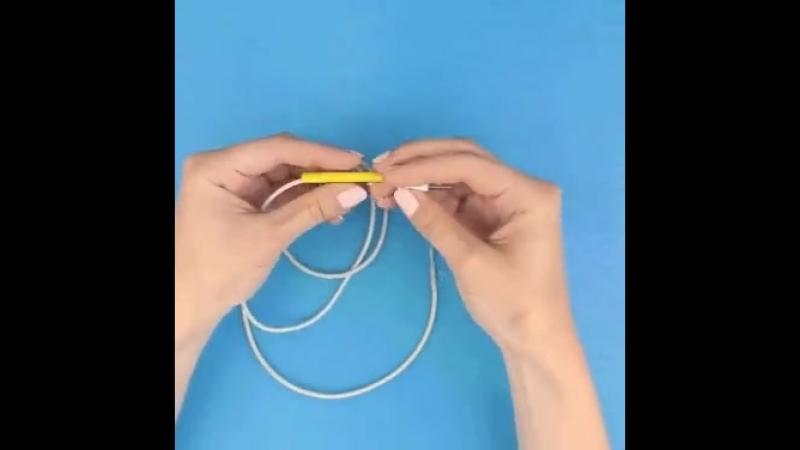 Как защитить поврежденный шнур (желтое - термоусадка)
