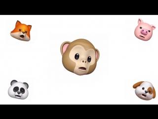 Музыкальный клип, созданный с помощью «анимодзи» из iPhone X
