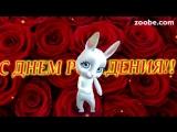 [v-s.mobi]Zoobe Зайка, красивое поздравление в день рождения любимому!.mp4