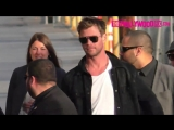 Chris Hemsworth Arrives To Jimmy Kimmel Live! Studios In Hollywood 1.10.18 - The.com