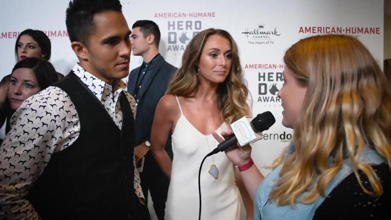 Carlos Penavega and Alexa Penavega Interview at Hallmarks Hero Dog Awards by Alexa Vega Daily News