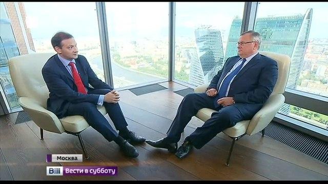 Вести в субботу. Что пошло не так с Грецией? На 58-м этаже башни в Сити объясняет Андрей Костин