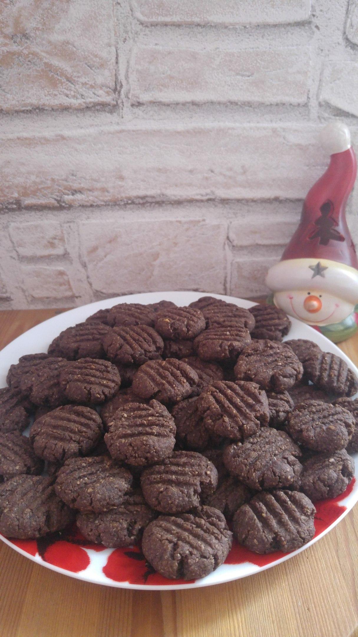 Кухня: Альбом пользователя Eugenia: песочное печенье с какао и кокосом