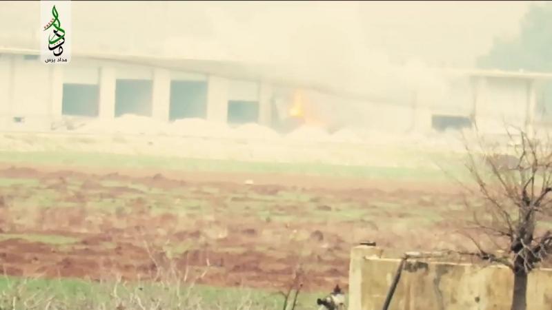 Сирия 05.01.18: бармалеи из Харакат Нуреддин аз-Зинки уничтожили из ПТУР Конкурс ЗУ-23-2 САР на севере Идлиба.