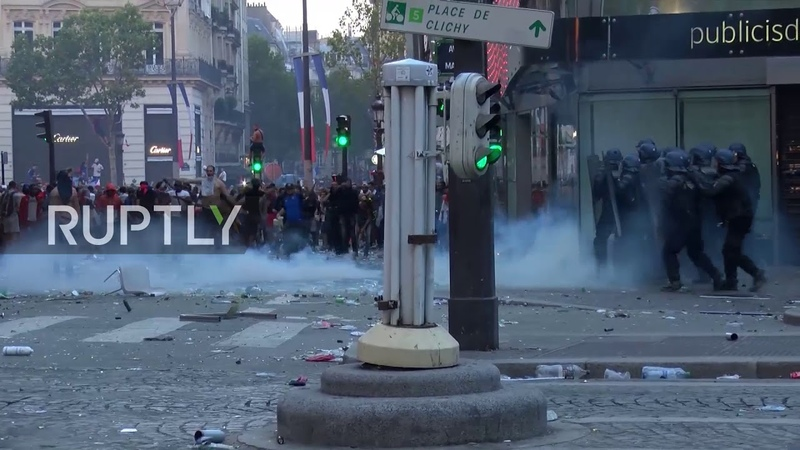 France: Paris celebrations marred by violence after WC final win