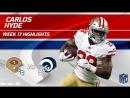 Carlos Hyde Highlights - 49ers vs. Rams - Wk 17 Player Highlights