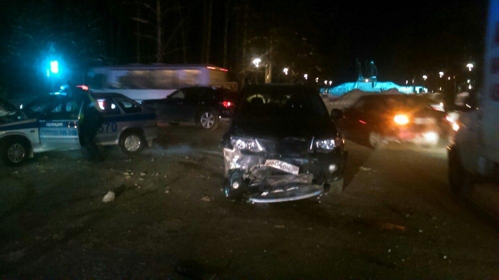 Молодая женщина пострадала в ДТП у Лагерного сада в Томске