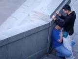 2 гея спалились на улицы.г Пермь