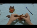 Мастер Класс елочные игрушки из фетра Олень из фетра