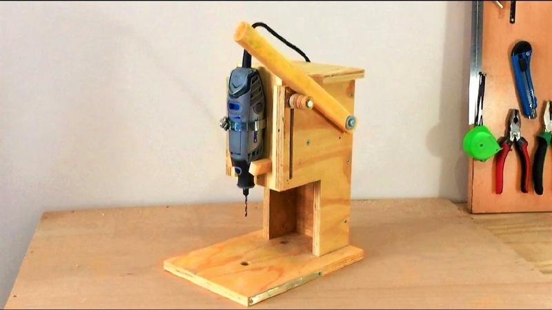 Making a Mini Drill Press - Router Table -Spindle Sander (All in One) Çok Fonksiyonlu Dremel Tezgahı