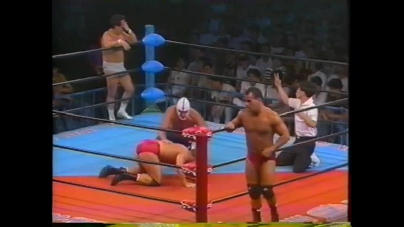 1991.07.11 - Dean Malenko/Joe Malenko vs. The Destroyer/Mitsuo Momota [FINISH]