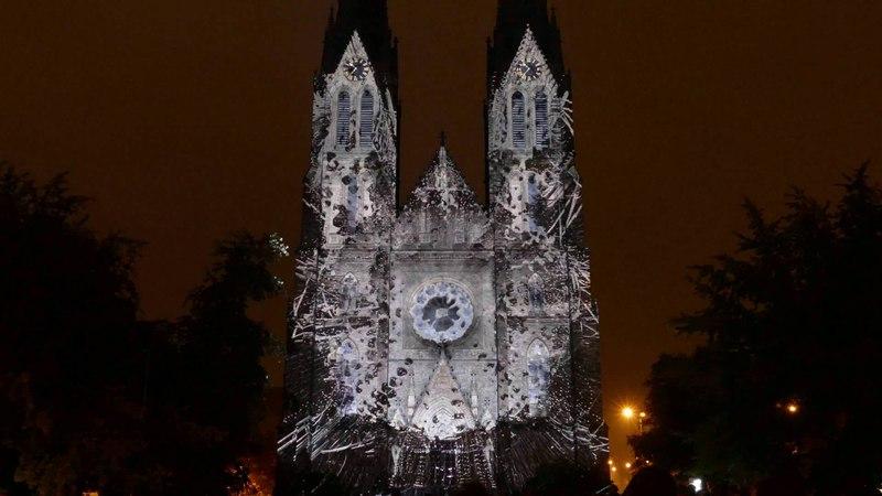 ESCAPE mapping the St Ludmila Church SIGNAL FESTIVAL 2015 Prague 4K