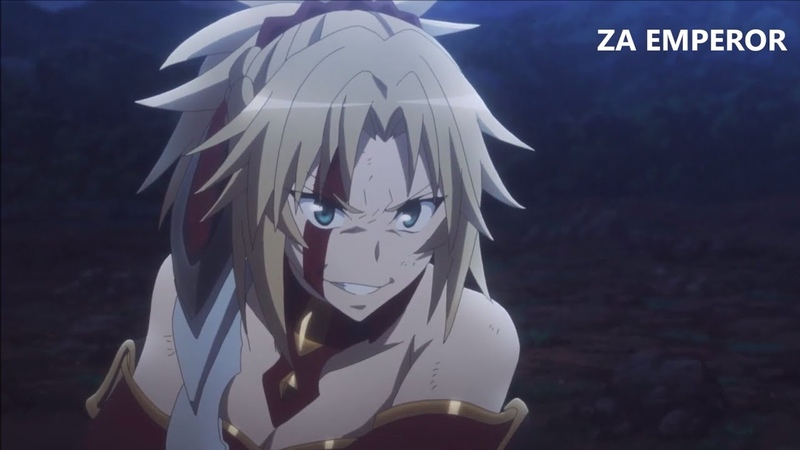 Fate/Apocrypha - Mordred vs Siegfried and Spartacus [ENG SUB/FULL HD]