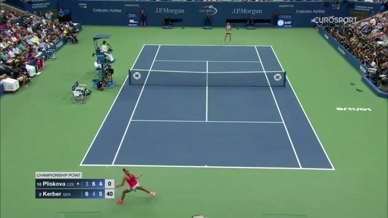 US Open 2016 Women's Final Match Point | Angelique Kerber vs. Karolina Pliskova