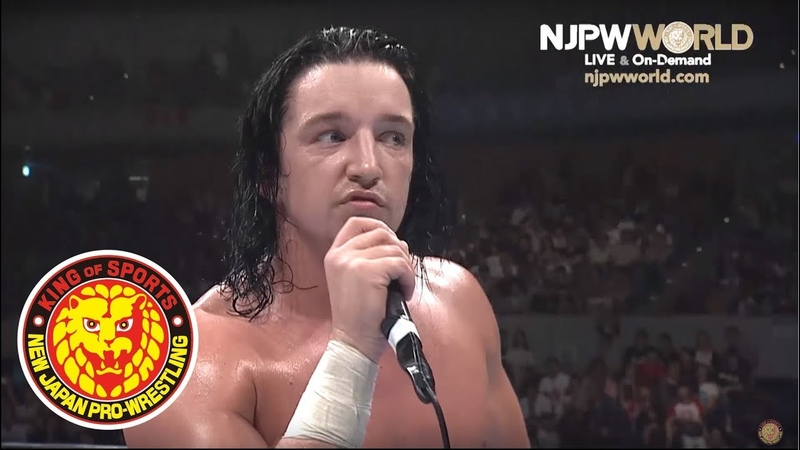 Jay White speaks after defeating Tana.