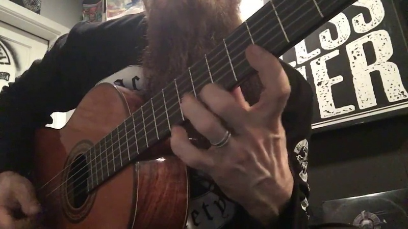 Zakk Wylde Showing His Skills on a Classical Guitar