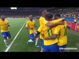 Brazils 3-0 thrashing of Argentina.