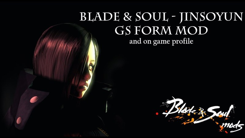 Blade Soul - Jinsoyun GS Form and on game profile (Mod)