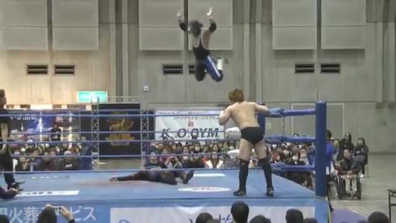 Atsushi Aoki, Naoshi Sano vs. Atsushi Maruyama, Black Tiger (AJPW - New Year Wars 2018 - Day 5)