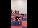 Тренировка гимнастки