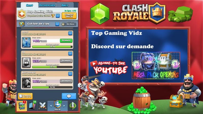Clash Royale Je joue avec mes abonnés et avec mon clan 3000 TR Rejoignez