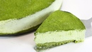 Matcha Green Tea No Bake Cheesecake with without gelatin RECIPE