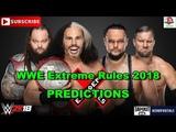 WWE Extreme Rules 2018 Raw Tag Team Championship Woken Matt Hardy &amp Bray Wyatt vs The B Team 2K18