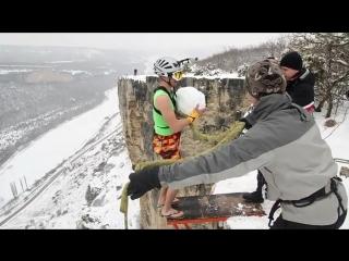 Snowballs rope jumping in Ukraine