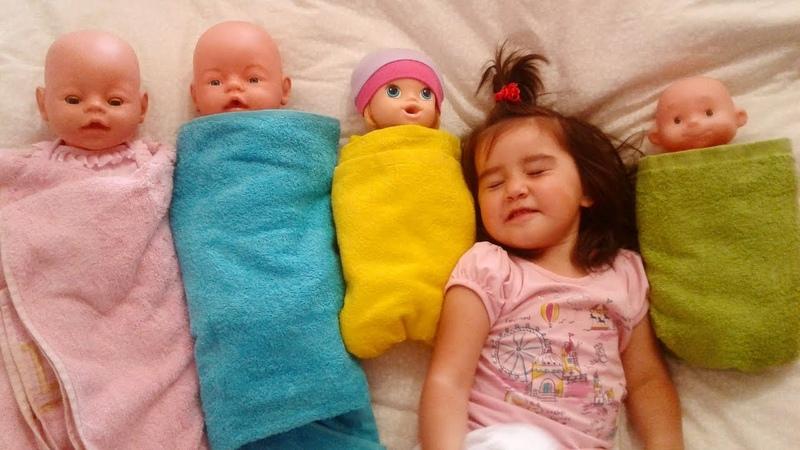 САФИЯ КАК МАМА Are you sleeping brother John Укладываем спать кукол Игрушки для девочек