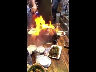 Китайская кухня, необычное приготовление