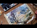 Hedwig's Art landscape watercolor