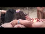French nudist beach cap` d agde brunette plays dick handjob