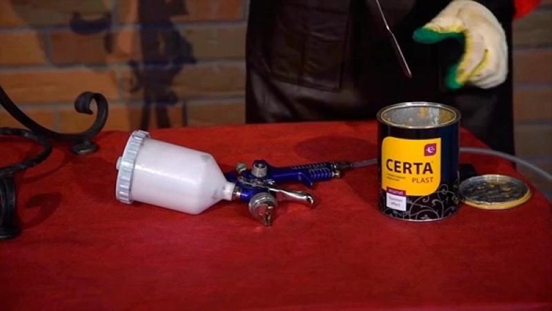 Как наносить молотковую эмаль Церта-пласт Certa-Plast