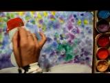 Как нарисовать снеговика гуашью поэтапно. Видео урок рисования для детей 4-6 лет