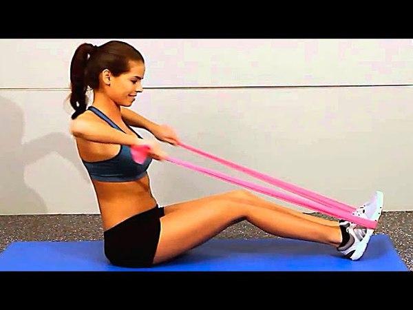 Резиновые петли Комплекс упражнений для похудения