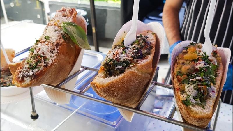 Italian Food Form Apulia, Special Filled Bread. Seen in London. Street Food of Greenwich Market