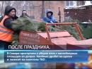 В Самаре приступили к уборке елок с контейнерных площадок во дворах