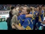 Решающий сейв вратаря шведской сборной и радость после победы!