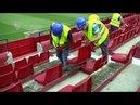 La nueva grada baja de Fondo ya en marcha 21 5 18 Sevilla FC