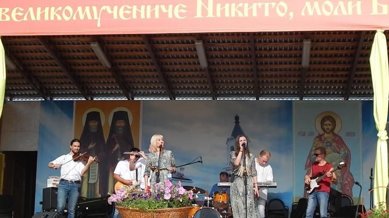АРТ-фолк группа ЕжеВикА(Тамбов) на 13-м Кузнечном фестивале в Бывалино 15.07.2018. Калина.